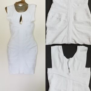 White bodycon spandex dress